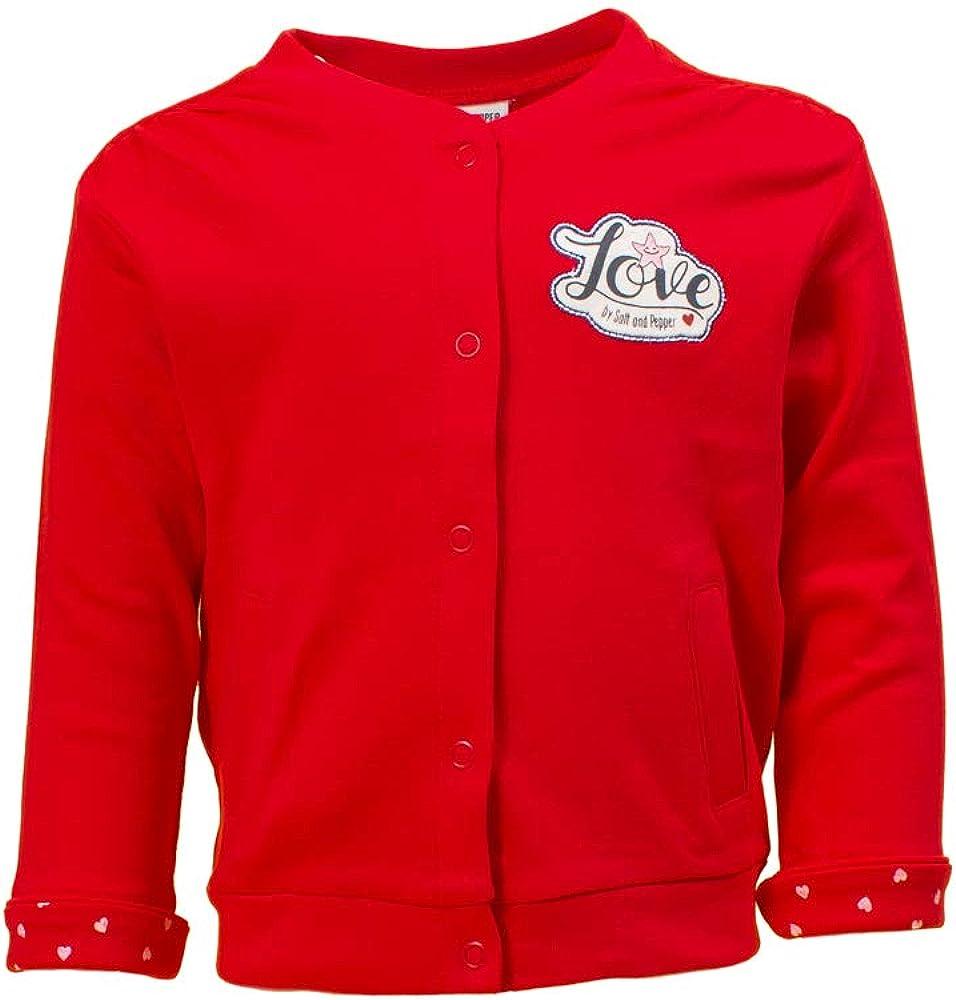 SALT AND PEPPER Baby-M/ädchen Jacket Seaside Uni Print Strickjacke