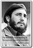 The revolution is a dictatorship.... - Fidel Castro quote fridge magnet - Calamita da frigo