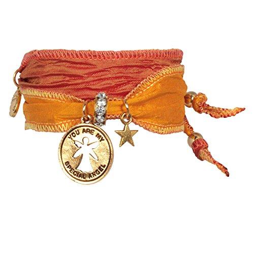 Anisch de la Cara Armband Copper Yellow - My Special Angel Freundschaftsarmband aus indischen Saris Special Angel - ArtNr. 2240-b