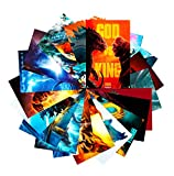 GTOTd Stickers for Godzilla VS Kong (20-Pcs) Stickers Decals Vinyls for Laptop,Teens,Cars,Gift,Movie Collection