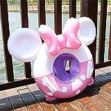 Flotador para bebé, flotador para niños, flotador hinchable para piscina, asiento de color rosa
