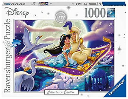 Ravensburger Puzzle, Puzzles 1000 Piezas, Alladin, Puzzle Disney, Puzzles para Adultos, Puzzle Ravensburger