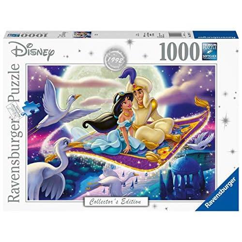 Ravensburger Puzzle, Puzzle 1000 Pezzi, Aladin, Puzzle per Adulti, Disney Collector's Edition, Puzzle Disney, Puzzle Ravensburger - Stampa di Alta Qualità