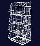 Yudu 5er Stapelkörbe Gitterkorb Wühlkorb Verkaufständer Warenständer Weiss