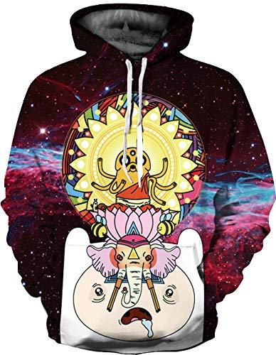XXZG Jersey de impresión Digital 3D suéter de Talla Grande Casual con Capucha Pareja Uniforme de béisbol Manga Larga S-XXL