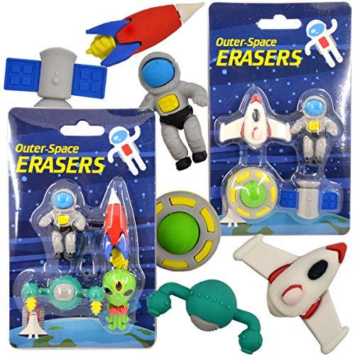 Radiergummi Space Weltraum Radierer Kinder 4.tlg Schule Mitgebel Büro Eraser