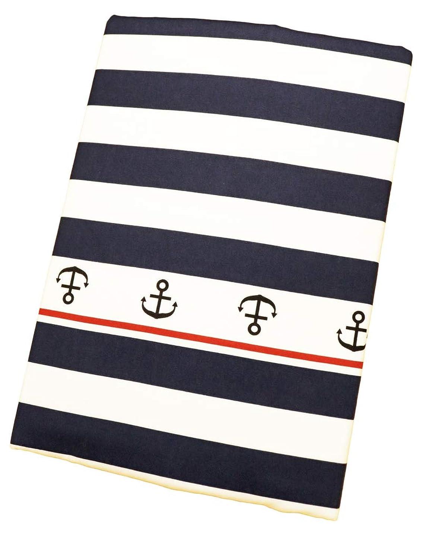 求める相互接続クラブ日本製 綿100% 掛布団カバー 150×200cmのシングルサイズ用 マリンボーダー柄 ネイビー