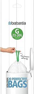 Brabantia PerfectFit Vuilniszak code G, 23-30 Liter, 20 stuks/rol