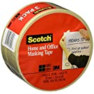 Scotch Home and Office Masking Tape 3436-3, 3/4-inch by 54.6 Yards, 3 Pack