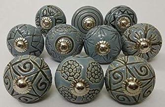 20 Grijze keramische knoppen kabinet handgrepen keuken trekt lade trekker door PUSHPACRAFTS