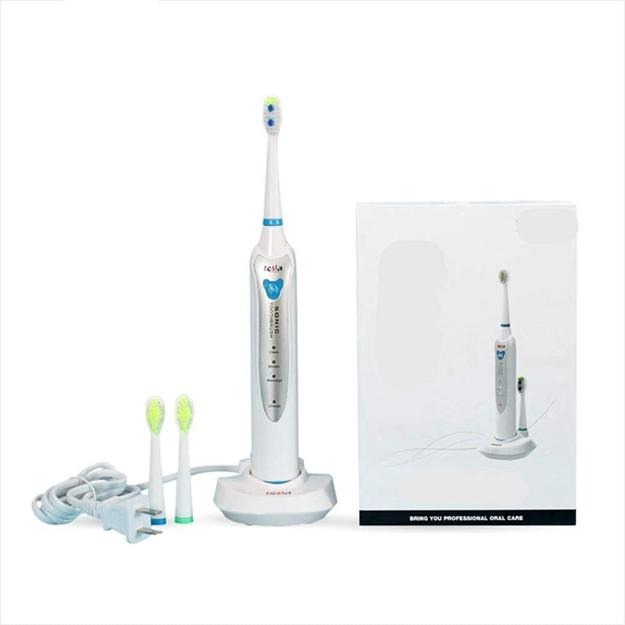 アストロラーベセールスマンオープニングHOHYLLYA 充電式電動歯ブラシを充電ソニック電動歯ブラシの大人の電動歯ブラシの無線 (色 : White)