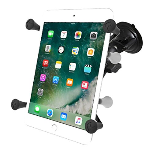 RAM Mounts (RAM-B-166-UN8) Twist Lock Suction Cup Mount with Universal X-Grip Ii Holder for 7' Tablets Including The Ipad Mini 1-3