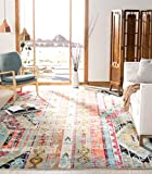 SAFAVIEH Monaco Collection MNC222F Boho Chic Tribal Distressed Non-Shedding Living Room Bedroom Accent Area Rug, 3' x 5', Multi