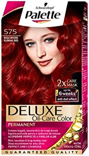 Palette Deluxe Color Creme Hair Color Permanent Hair Dye 575 Flamingo Red