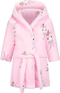 DELEY Children's Bathrobe Boys Girls Hoodie Robes Toddler Soft Pajamas Sleepwear