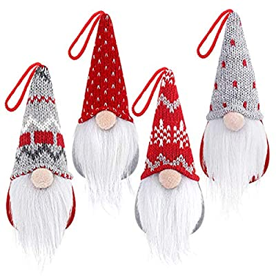 Cute Hanging Christmas Elf Doll Heads
