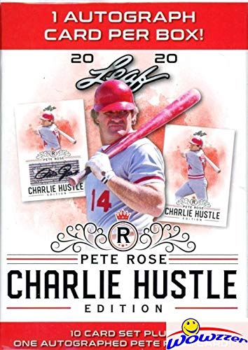 2020 Leaf Baseball PETE ROSE Charlie Hustle Edition Factory Sealed Box with Authentic Pete Rose AUTOGRRAPH! Brand New! Includes Complete 10 Card Set of Baseball HIT KING! WOWZZER!