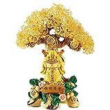 Ornamento de Escritorio Citrinos suerte de la decoración del árbol de Buda Estatua de Fortune árbol decoración de la tienda de Protección don espiritual meditación Dinero de la suerte Decoración artes