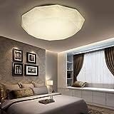 Luz de techo LED Material de ABS Material de moldeo de fundición, sello, placa a prueba de polvo, lámpara de interior para la cocina, sala de estar, balcón, 36 W 350 mm, blanco cálido
