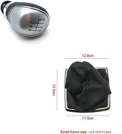 LUOERPI Perilla de Cambio de Marchas Negro Plateado Manual de 5 velocidades 6 velocidades, para