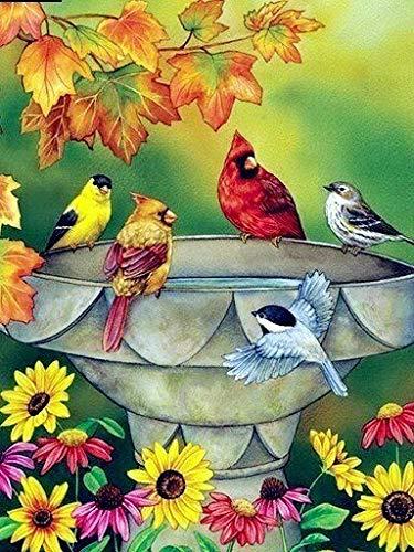 Pintura al óleo de bricolaje por números decoración del hogar de animales abstractos colorear por números pintura acrílica de pájaro regalo único arte de pared A4 40x50cm