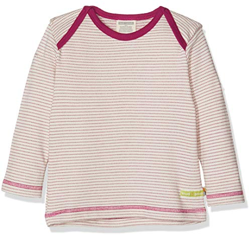 loud + proud Kinder-Unisex Shirt Langarm Frottée Langarmshirt, Violett (Orchid or), 104