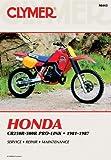 Honda CR250R-500R Pro-Link Motorcycle (1981-1987) Service Repair Manual