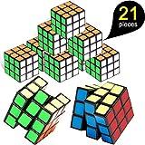 pushang 21Pièces Mini Cubes Matériau Magique Cube avec des Couleurs Vives Partie Favor Fournitures Scolaires Partie Puzzle Jeu pour Garçons Filles Enfants Adultes