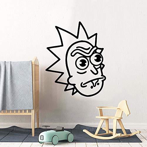 Familie hässlicher Mann selbstklebende Vinyl wasserdichte Wandkunst Aufkleber Kinderzimmer abnehmbare Wandaufkleber Familie kreative Dekoration Zubehör andere Farbe 57x70cm