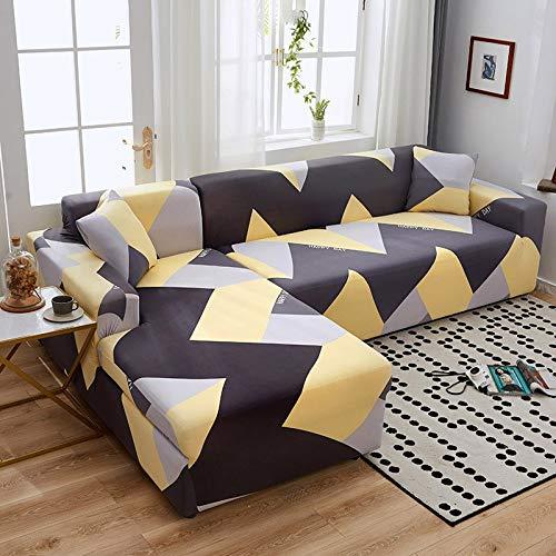 WXQY Funda de sofá de Esquina en Forma de L combinación Antideslizante Funda de protección para sofá elástica protección para Mascotas Funda de protección para sofá A8 2 plazas