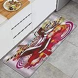 PANILUR Alfombras para Cocina Baño de Cocina,Helados Postres deliciosos Mezclados con Flores y sabores exóticos Tema Tropical de Verano Multicolor,para Dormitorio Baño Antideslizantes