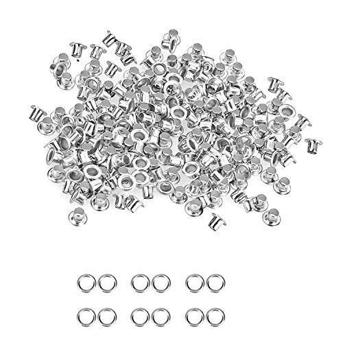 Silberne Ösen für Stoffvorhang, Bekleidung, Nähen, DIY, Dinyl- und Hochzeitsdekor und Leder-Handwerk, metall, silber, 3 mm