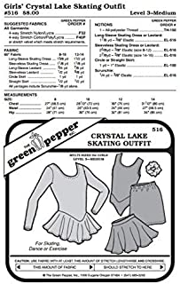 Kids Crystal Lake Skating Dance Gymnastics Outfit #516 Sewing Pattern (Pattern Only)