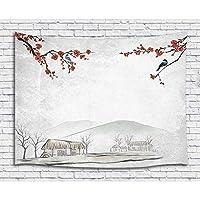 FJTP壁タペストリー中国の水墨画素朴な自然の風景ファッショナブルなタペストリー壁ハニング大学寮の家の装飾