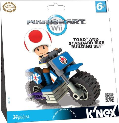 Knex - 33126t - Jeu De Construction - Moto A Construire Toad - Mario Kart Wii