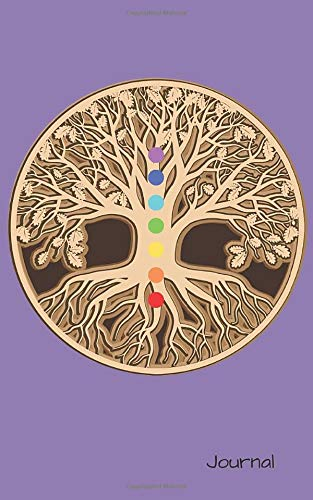 "Chakra Tree of Life Journal: Purple 3D Tree of Life Chakra Design with Cream Blank Pages Notebook Planner. Great Present for Birthday, Christmas, ... Kids, Adults, Girls & Boys. 5""x8"" 100 pages"