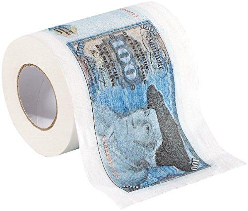 infactory Witziges Klopapier: Retro-Toilettenpapier 100 D-Mark, 1 Rolle (Witziges Toilettenpapier)