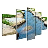 bilderfelix® Bild auf Leinwand Rocky Stepping Stones