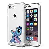 Litech Case for Apple iPhone 7 / iPhone 8 [Flexfit] Premium Clear Scratch-Resistant Cute Creative Artistic Design [Wireless Charging Compatible] (Stitch 2)