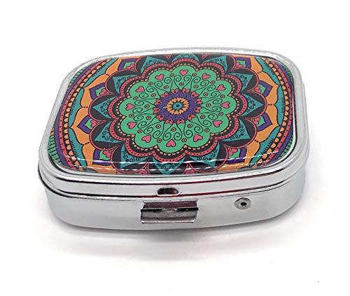 MovilCom® Pastillero diario de bolsillo organizador 2 compartimentos, pastillero organizador pastillas toma diaria, caja medicamentos (mod.653202)