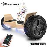 EverCross 8.5' Scooter Patinete del Mano Eléctrico Bluetooth App Self Balancing (Gold)