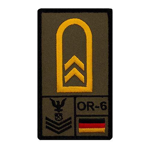 Café Viereck ® Oberbootsmann Marine Bundeswehr Rank Patch mit Dienstgrad - Gestickt mit Klett – 9,8 cm x 5,6 cm