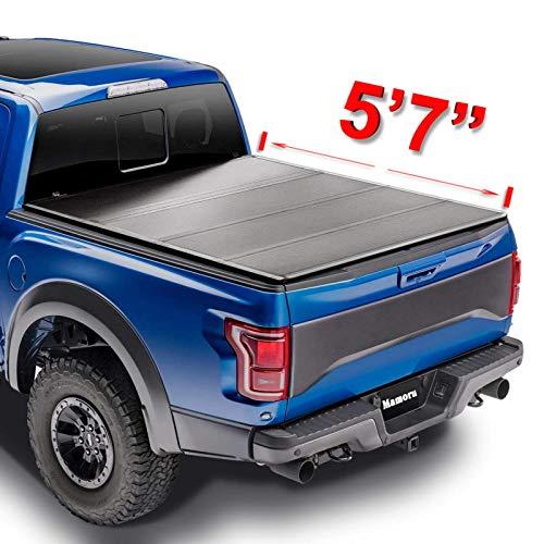 """Mamoru Hard FRP Quad-Fold Tonneau Cover For 2009-2020 Dodge Ram 1500 5'7"""" Truck Bed Cover   2010-2018 Dodge Ram 2500 3500 5'7"""" Bed Cover"""