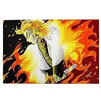 鬼滅の刃 パズル ジグソーパズル 木製 1000ピース 人気アニメ キャラクター 大人用 子供用 1000ピースチャレンジ ギフト プレゼント 減圧 パズルのピース(75.5cm * 50.3cm)