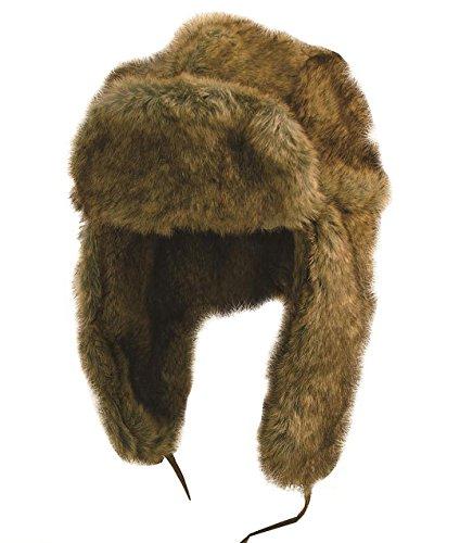 Kakadu Traders Winter-Mütze Skimütze Flieger-Mütze Huskie aus Kunstfell- Herren Damen Unisex Größe M