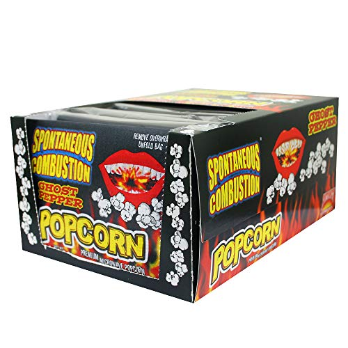 Buy Discount Spontaneous Combustion Ghost Pepper Microwave Popcorn Bags - 12 Pack - Ultimate Spicy G...