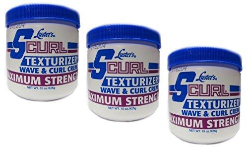 3x Lusters Luster SCURL Texturizer Wave & Curl Creme MAXIMUM STRENGTH 425g (insgesatm - 1275g)