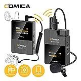 COMICA BoomX-D D1 2.4G Micro Cravate sans Fils Système de Clip-on Microphone avec écran LCD, Prise en Charge de la Surveillance Audio(D1=TX+RX)