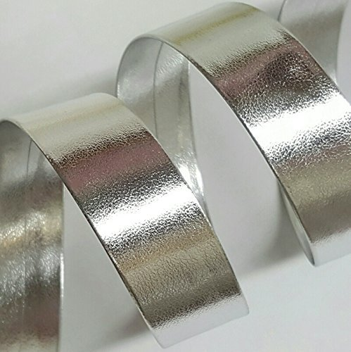 15MM Synthetic Leather bias Tape Price Per 6 Yards in Silver