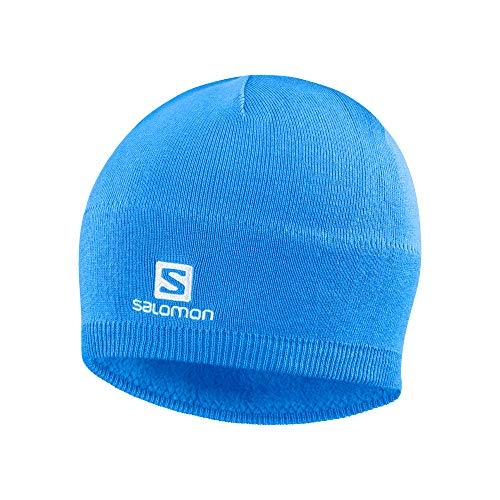 Salomon, Unisex-Wintermütze, SALOMON BEANIE, Blau (Indigo Bunting), Einheitsgröße, LC1424100